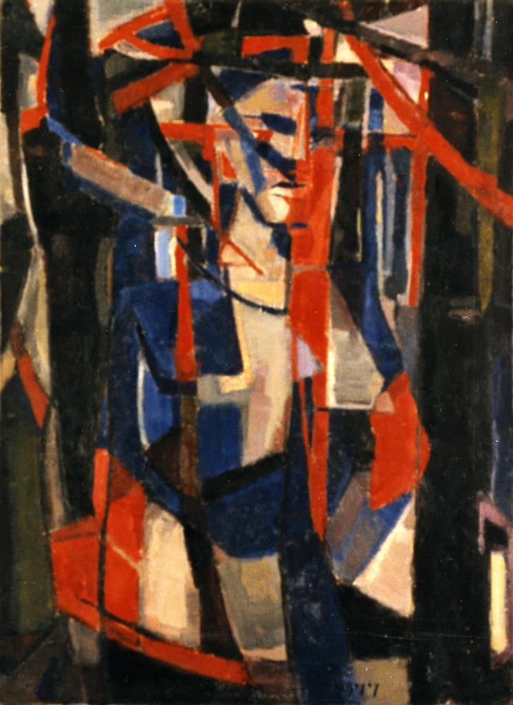 Odette Boyer-Chantoiseau. La Femme dans les pins, 1950. Collection particulière
