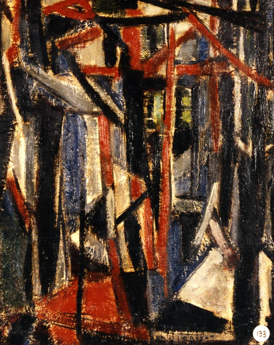 Odette Boyer-Chantoiseau. La Femme dans les pins, 1951. Collection particulière