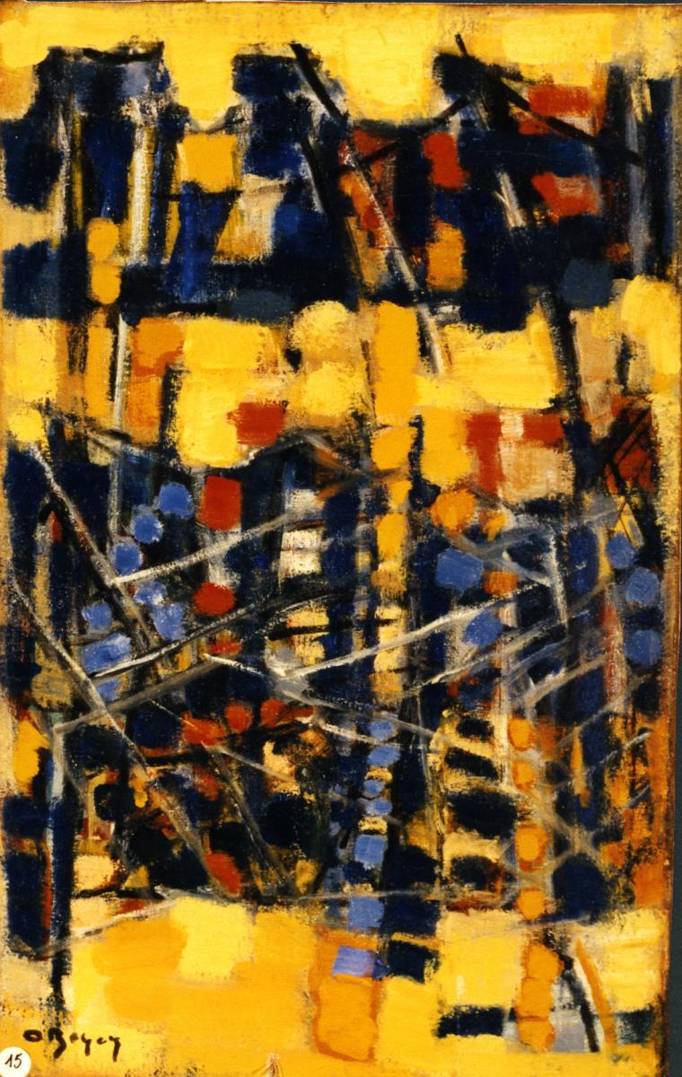 Odette Boyer-Chantoiseau. Filets tendus, 1957. Collection particulière