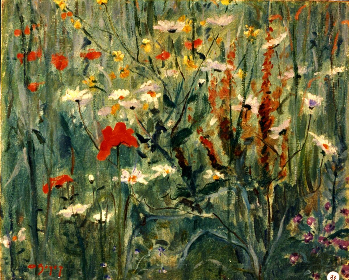 Odette Boyer-Chantoiseau. Champs de fleurs, 1941-1945. Collection particulière
