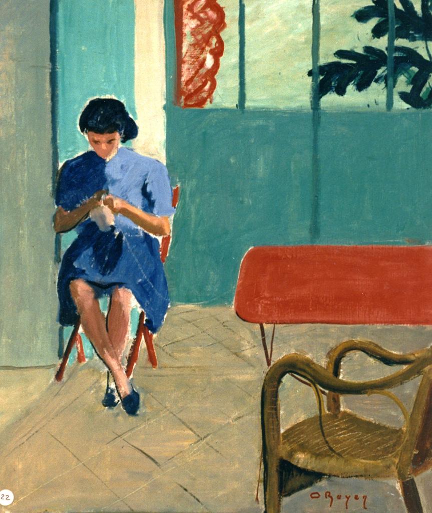 Odette Boyer-Chantoiseau. Florence, fille de l'artiste, 1946. Collection particulière