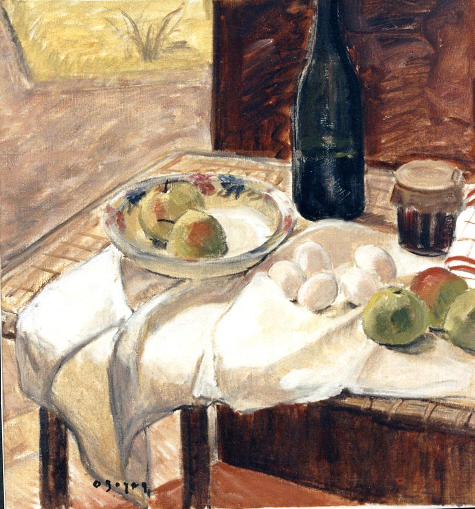 Odette Boyer-Chantoiseau. Nature morte aux oeufs, 1935-1936. Collection particulière