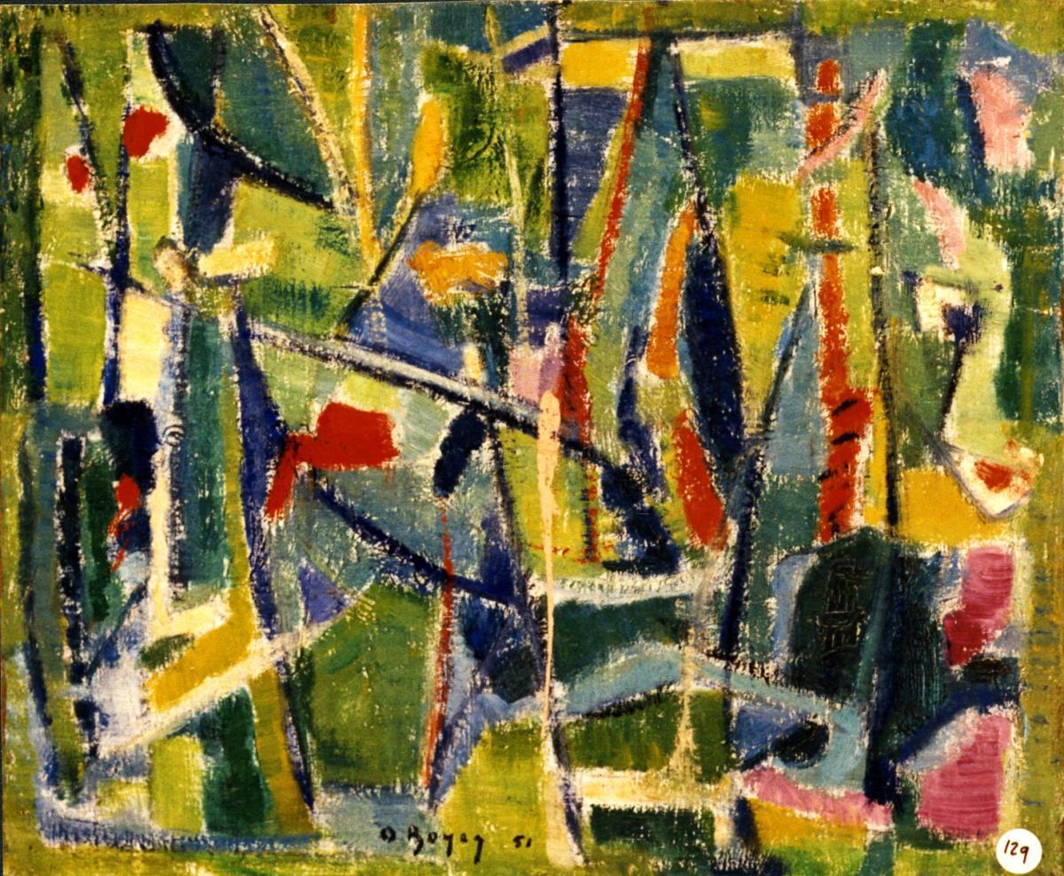 Odette Boyer-Chantoiseau. Prairie, 1951. Collection particulière
