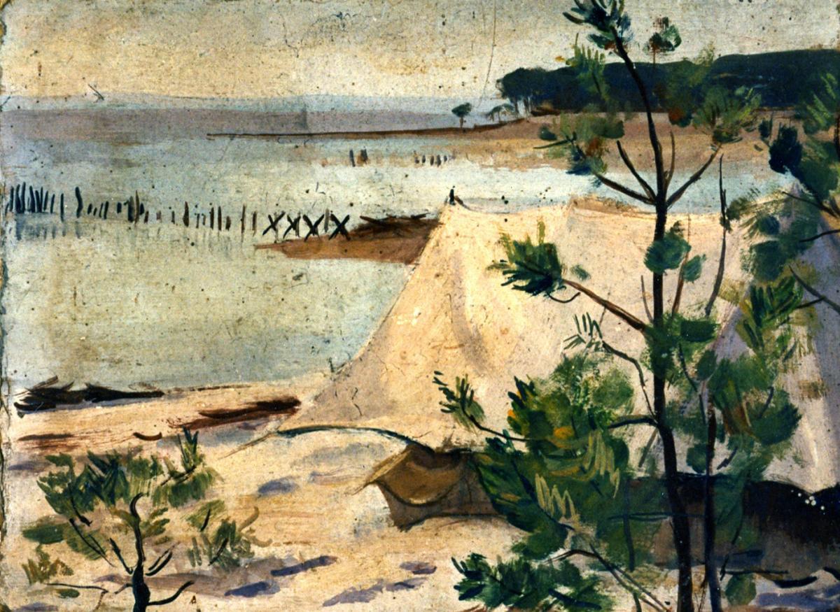 Odette Boyer-Chantoiseau. Sanguinet, 1932. Collection particulière