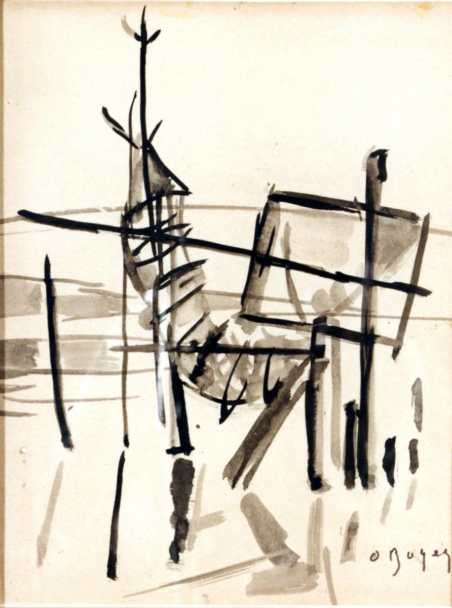Odette Boyer-Chantoiseau. Sanguinet, 1954. Collection particulière