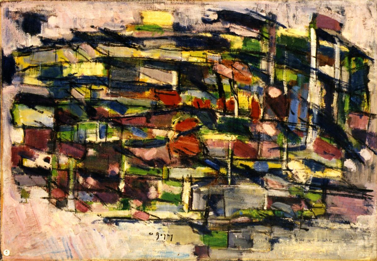 Odette Boyer-Chantoiseau. Terre ventée, 1963. Collection particulière