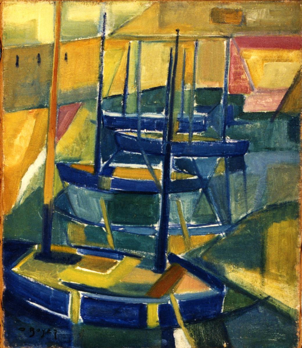 Odette Boyer-Chantoiseau. Voiliers, 1950. Collection particulière