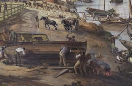 Détail : Ouvriers © Musée des Beaux-Arts - Bordeaux