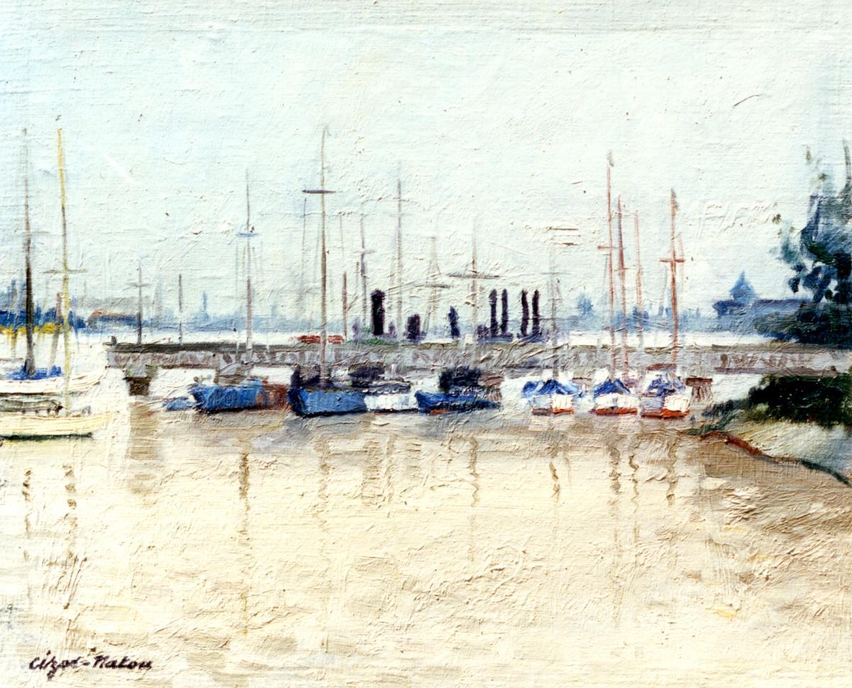 Pierre Cizos-Natou. Le Point du jour. Bordeaux, 1958. Collection particulière