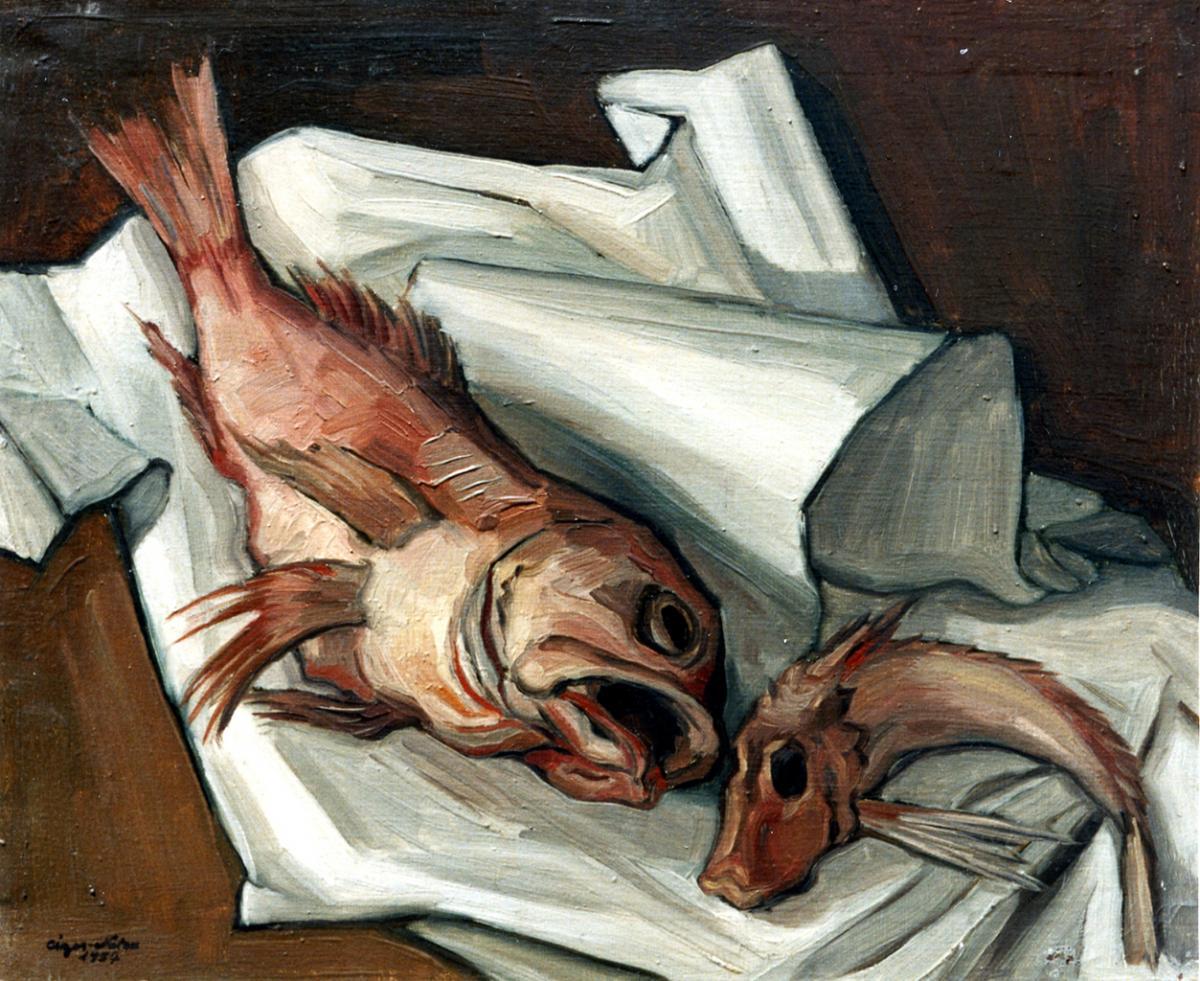 Pierre Cizos-Natou. La Rascasse, 1957. Collection particulière