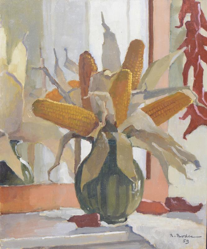 R. RODES, Nature morte. Gouache, 1959. Collection particulière