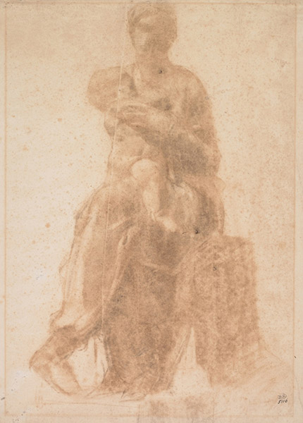 Etude d'après la Vierge à l'enfant de Michel-Ange, 1877. Paris, Musée Rodin