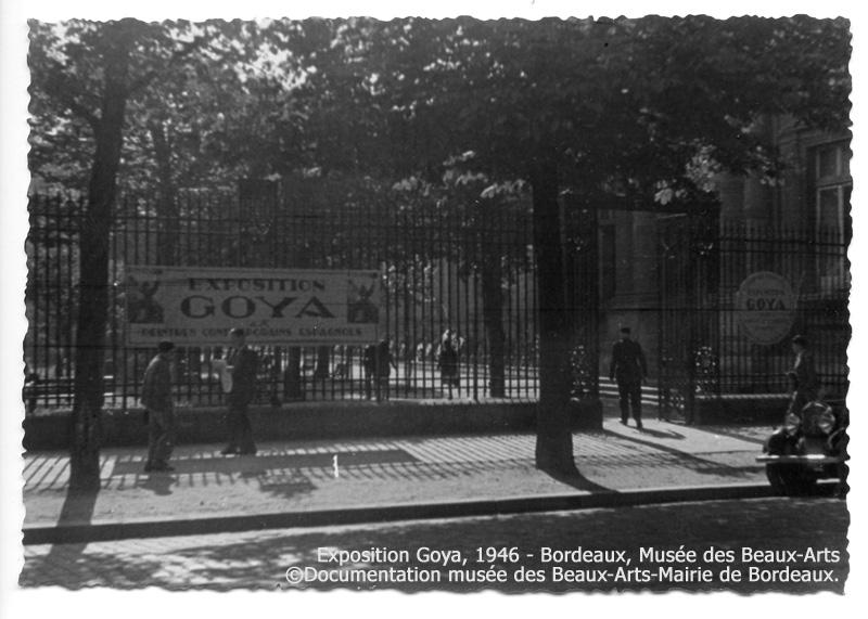 Image de l'entrée du musée des Beaux-Arts de Bordeaux, 1946. ©Mairie de Bordeaux-Documentation du Musée des Beaux-Arts de Bordeaux
