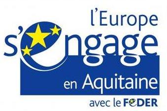 Logo l'Europe s'engage en Aquitaine avec le Feder