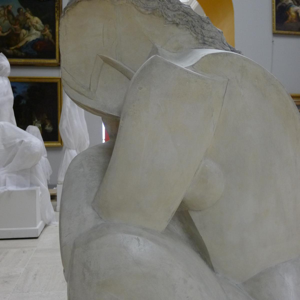 """""""Femme accroupie"""", Ossip ZADKINE© Musée des Beaux-Arts-mairie de Bordeaux"""