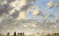 Eugène Boudin, la marée basse à Etaples 1886 © Musée des Beaux-Arts - Mairie de Bordeaux