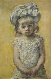 """Image de """"Portrait de fillette"""", Mary Cassatt © Musée des Beaux-Arts-mairie de Bordeaux. Cliché F.Deval"""