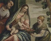 """Image de """"Sainte Famille avec sainte Dorothée""""© Musée des Beaux-Arts-Mairie de Bordeaux. Cliché L. Gauthier"""