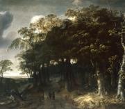 """Image de """"Paysage sylvestre aux chasseurs""""© Musée des Beaux-Arts-mairie de Bordeaux. Cliché L. Gauthier"""