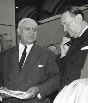 Photographie d'Alexandre Callède et d'André Malraux