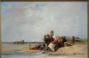 Achat de la ville de Bordeaux - Camille Roqueplan - Famille de pêcheurs sur une côte de Normandie