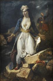 Delacroix, la Grèce sur les ruines de Missolonghi, 1826. © Musée des Beaux-Arts - Mairie de Bordeaux.