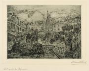Image : Léonce Furt. Marché des Capucins (Bordeaux). Eau-forte et aquatinte. Bordeaux, musée des Beaux-Arts. Photo Frédéric Deval