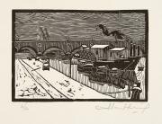 Image : Albert André Greig, Hivers 1942 sous la neige. Bordeaux, Musée des Beaux-Arts, 1942. Serge Fernandez