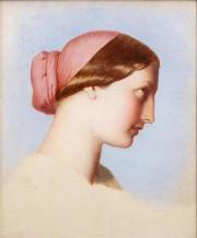 Eugène-Emmanuel-Amaury Pineu-Duval, dit Amaury-Duval – Jeune femme de Saint-Jean-de-Luz  © Musée des Beaux-Arts