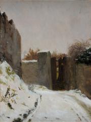La Neige à l'orée du bois. Rosa Bonheur © Musée des Beaux-Arts-mairie de Bordeaux. Cliché F.Deval