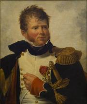 Jean-Jacques LAGRENÉE dit le Jeune – Portrait du colonel Poudavigne