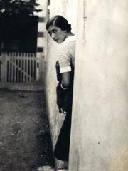 Photographie en noir et blanc d'Odette Boyer-Chantoiseau