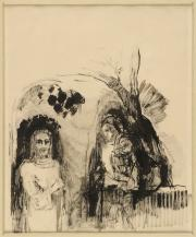 Cristo y la samaritana. Odilon Redon