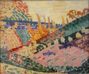 Paysage aux vaches,Robert Delaunay (1906) huile sur toile, Musée d'art moderne de la Ville de Paris