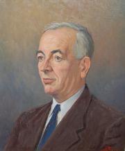 Image du portrait de R. Rodes par Léon Devaux, Bordeaux. Huile, vers 1955. Collection particulière