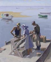 Image de la gouache de R. Rodes intitulée Les Détroqueurs, 1958. Collection particulière