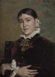 Portrait de femme. Théo van Rysselberghe © Musée des Beaux-Arts-mairie de Bordeaux. Cliché F.Deval