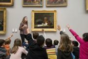 En visite au musée des Beaux-Arts. Photo A. Sibelet mairie Bordeaux