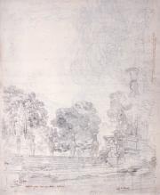 LACOUR.Vue des jardins de la villa Farnèse à Caprarola© Musée des Beaux-Arts-mairie de Bordeaux. Cliché F.Deval