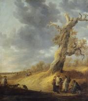 """Le chêne foudroyé"", 1638. Jan Josephsz van Goyen."