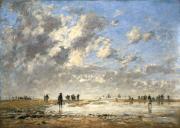 """""""Marée basse à Etaples"""",1886. Eugène Boudin."""