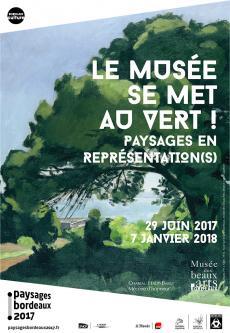 Image : Affiche de l'exposition Le musée se met au vert ! Bordeaux, musée des Beaux-Arts