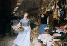 Victor-Gabriel Gilbert, Un coin des halles, 19e siècle
