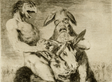 Goya Physionomiste, serie los caprichos (détail) 1799, © Madrid, Calcographie National