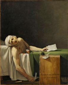 Jacques-Louis David, La mort de Marat 1793, Copyright RMN Grand Palais. Photo Martine Beck Coppola