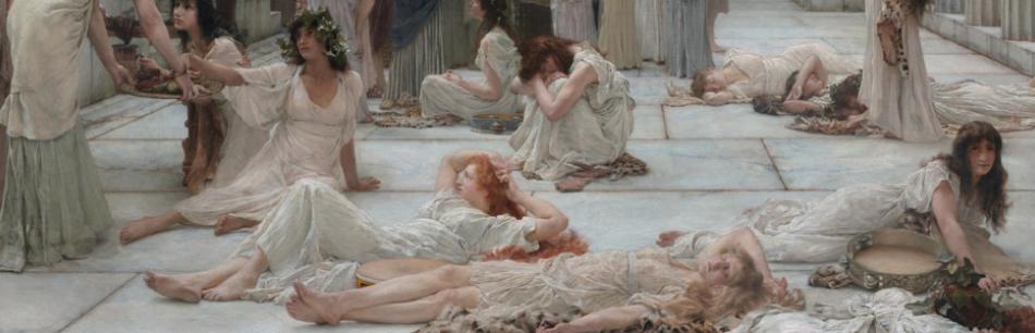 Image : Alma Tadéma, Les Femmes d'Amphissa. Clark Art Institute (détail)