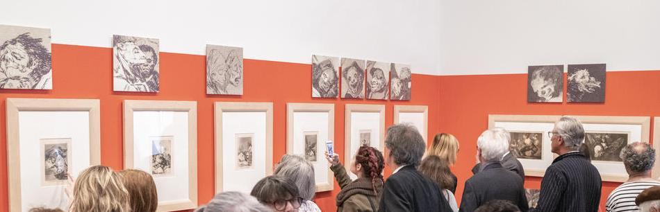 Vue de l'exposition Goya