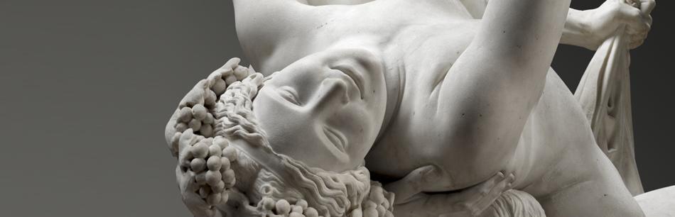 Détail Satyre et bacchante, James Pradier, Paris, Musée du Louvre. Exposition, Bordeaux, musée des Beaux-Arts