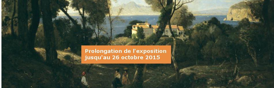 Détail de l'oeuvre de Harpignies. Bordeaux, Musée des Beaux-Arts