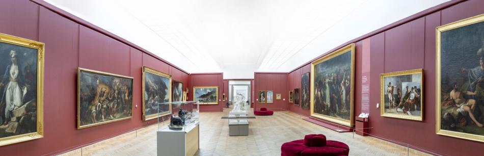 Musée des Beaux-Arts, première salle de l'aile nord, F. Deval